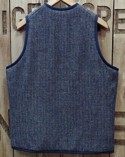 """画像5: Pherrow's """"19W-PWPV1"""" Wool/Linen Melange HB Quilt Vest"""