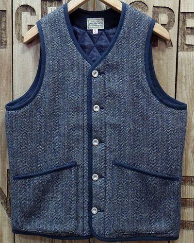 """画像2: Pherrow's """"19W-PWPV1"""" Wool/Linen Melange HB Quilt Vest"""