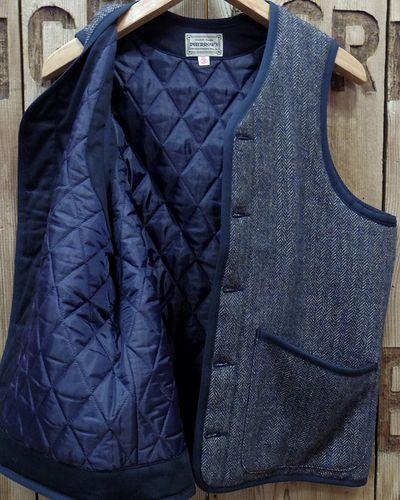 """画像4: Pherrow's """"19W-PWPV1"""" Wool/Linen Melange HB Quilt Vest"""