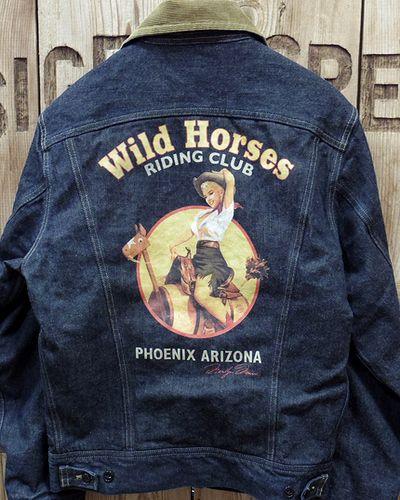 """画像2: TOYS McCOY -LOT 100LJ DENIM JACKET """"WILD HORSES""""-"""