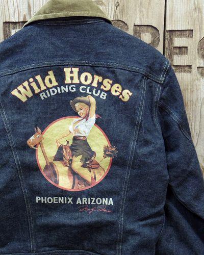 """画像1: TOYS McCOY -LOT 100LJ DENIM JACKET """"WILD HORSES""""-"""