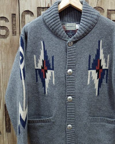 "画像1: Pherrow's ""19W-PRCC1"" Native Jacquard Knit Cardigan"