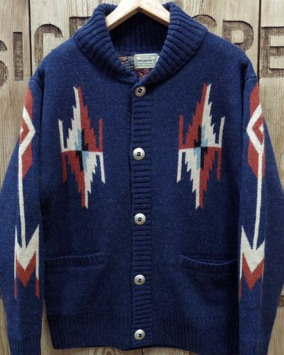 "画像2: Pherrow's ""19W-PRCC1"" Native Jacquard Knit Cardigan"
