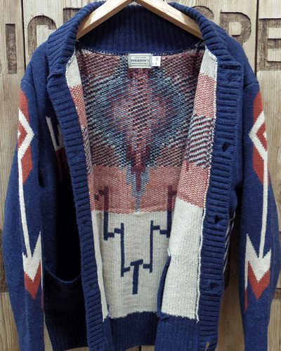 "画像4: Pherrow's ""19W-PRCC1"" Native Jacquard Knit Cardigan"