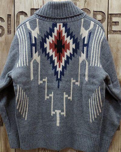 "画像5: Pherrow's ""19W-PRCC1"" Native Jacquard Knit Cardigan"