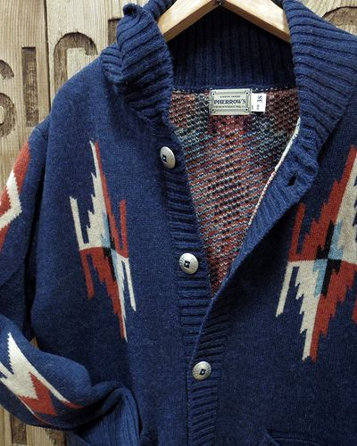 "画像3: Pherrow's ""19W-PRCC1"" Native Jacquard Knit Cardigan"