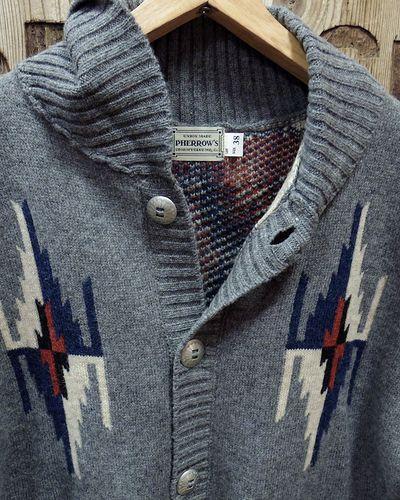 "画像3: Pherrow's ""19W-PRCC1"" Native Jacquard Knit Cardigan"