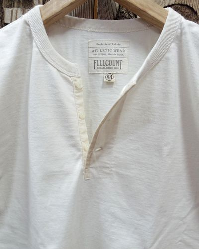 画像3: FULLCOUNT -FLAT SEAM HEAVY WEIGHT HENLEY TEE L/S-