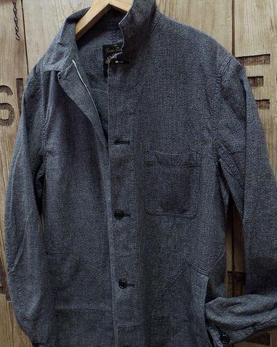 画像3: FULLCOUNT -COVERT BLACK CHAMBRAY ATELIER COAT-