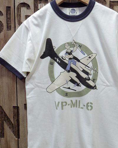 """画像1: TOYS McCOY -MILITARY TEE SHIRT """"NAVY VP-ML-6""""-"""