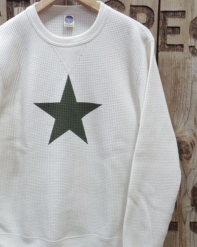 """画像1: TOYS McCOY -BIG WAFFLE CREW NECK SHIRT / DURABLE """"ONE STAR""""-"""