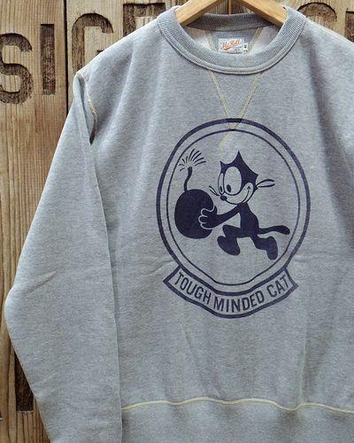 """画像1: TOYS McCOY -MILITARY SWEAT SHIRT """"TOUGH MINDED CAT""""-"""