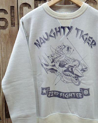 """画像1: TOYS McCOY -MILITARY SWEAT SHIRT 23rd FG """"NAUGHTY TIGER""""-"""