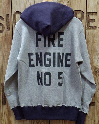 """画像5: TOYS McCOY -HALF ZIP SWEAT PARKA """"FIRE ENGINE NO 5""""-"""