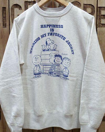 """画像2: BUZZ RICKSON'S × PEANUTS -SET-IN CREW SWEAT """"HAPPINESS""""-"""