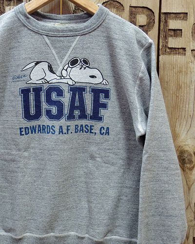 "画像1: BUZZ RICKSON'S × PEANUTS -SET-IN CREW SWEAT ""USAF""-"