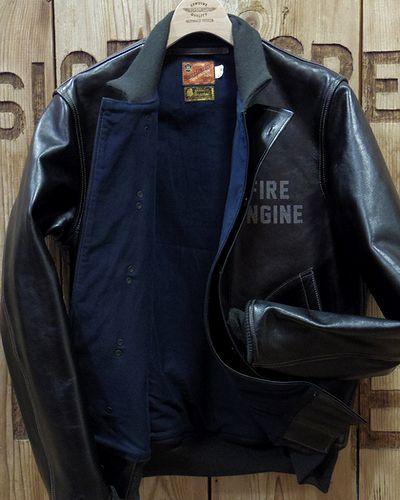 """画像3: TOYS McCOY -LEATHER DECK HOOK JACKET """"FIRE ENGINE""""-"""