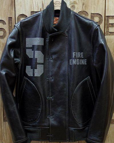 """画像2: TOYS McCOY -LEATHER DECK HOOK JACKET """"FIRE ENGINE""""-"""