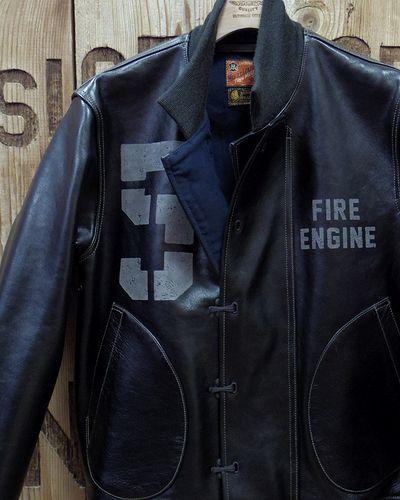 """画像1: TOYS McCOY -LEATHER DECK HOOK JACKET """"FIRE ENGINE""""-"""