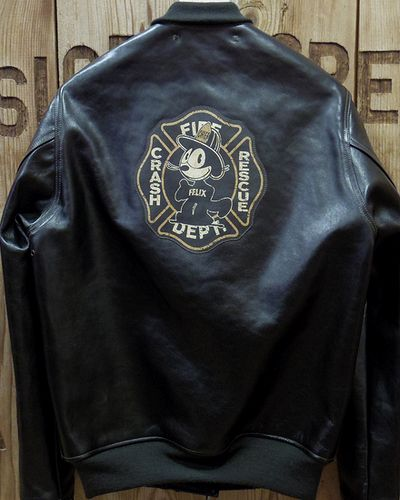 """画像5: TOYS McCOY -LEATHER DECK HOOK JACKET """"FIRE ENGINE""""-"""