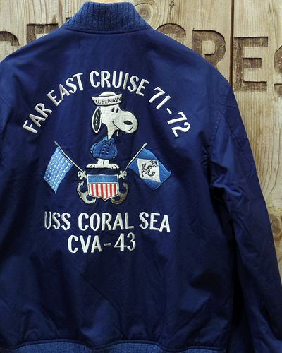 "画像1: BUZZ RICKSON'S × PEANUTS -SNOOPY TOUR JACKET ""USS CORAL SEA""-"